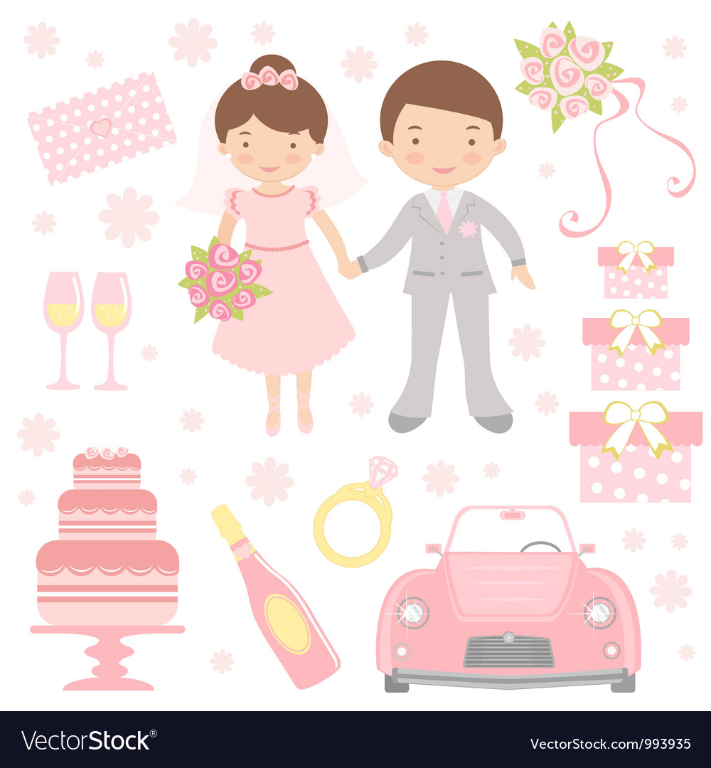 Cute wedding vector | Price: 3 Credit (USD $3)