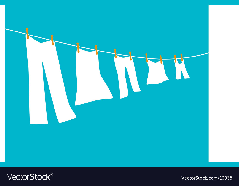 Family-clothesline vector | Price: 1 Credit (USD $1)