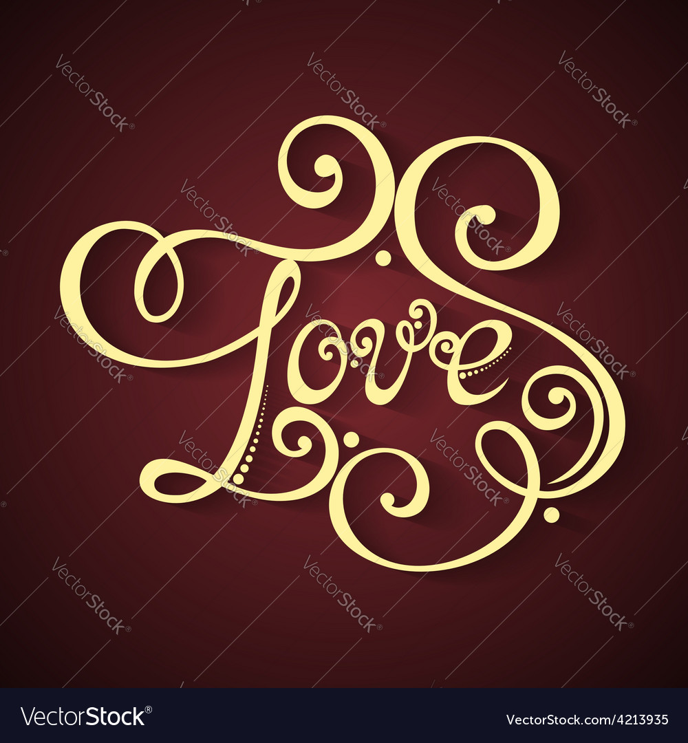 Fancy lettering design vector | Price: 1 Credit (USD $1)