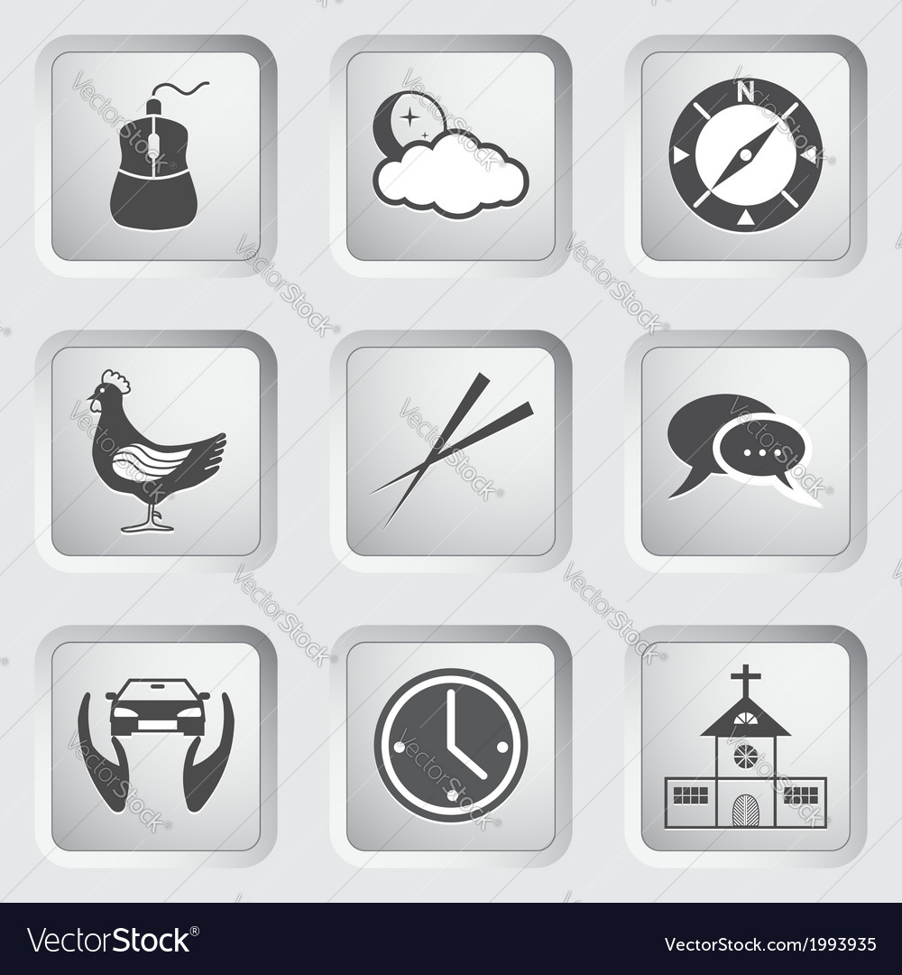 Icons on the buttons for web design set 4 vector | Price: 1 Credit (USD $1)