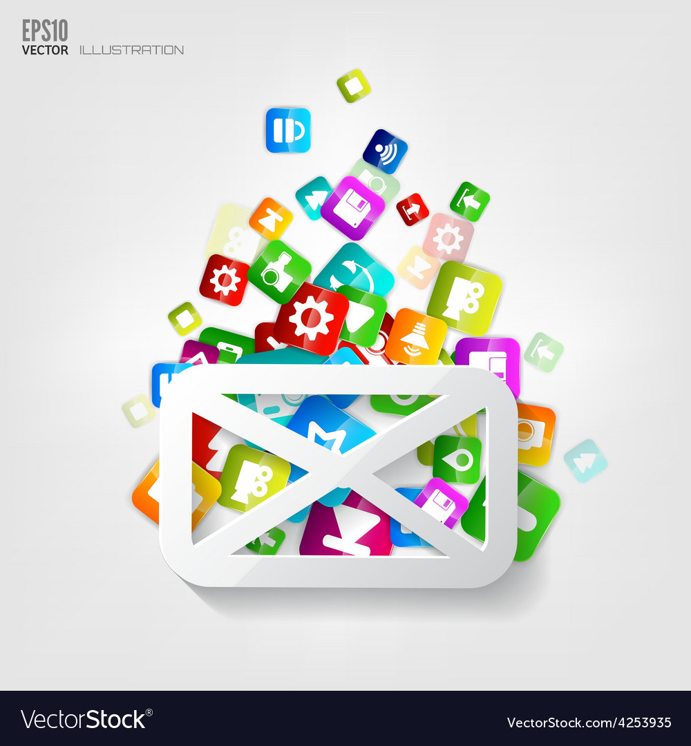 Message icon application buttonsocial media vector | Price: 3 Credit (USD $3)