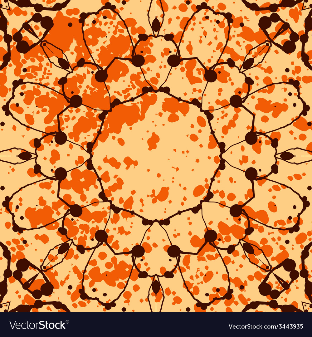 Orange background with splattered paint and vector | Price: 1 Credit (USD $1)