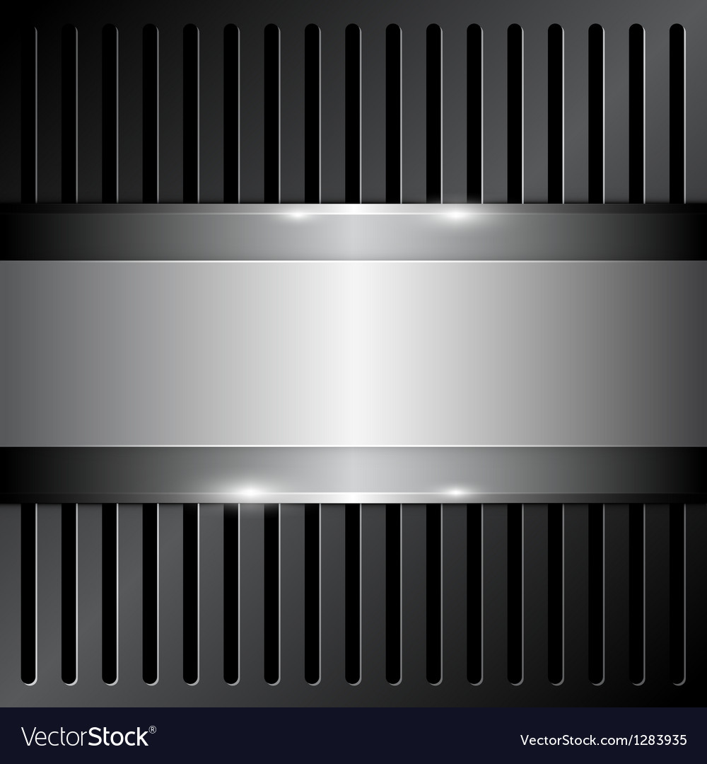 Shiny metallic on grille background vector | Price: 1 Credit (USD $1)