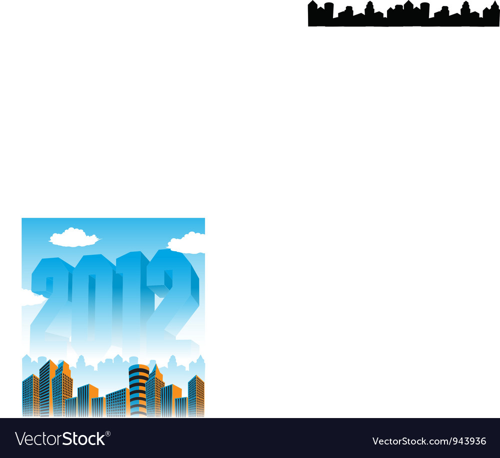 2012 cityscape vector | Price: 1 Credit (USD $1)