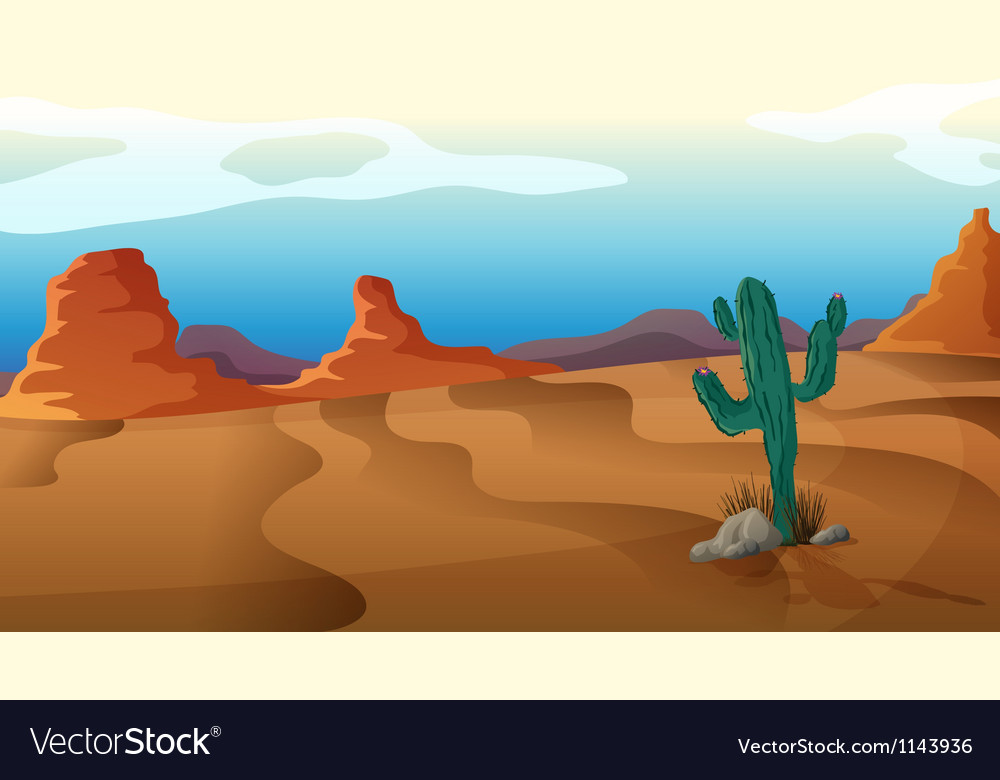 A sad cactus vector | Price: 1 Credit (USD $1)