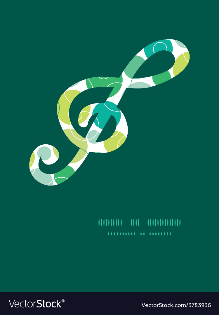 Abstract green circles gclef musical vector | Price: 1 Credit (USD $1)