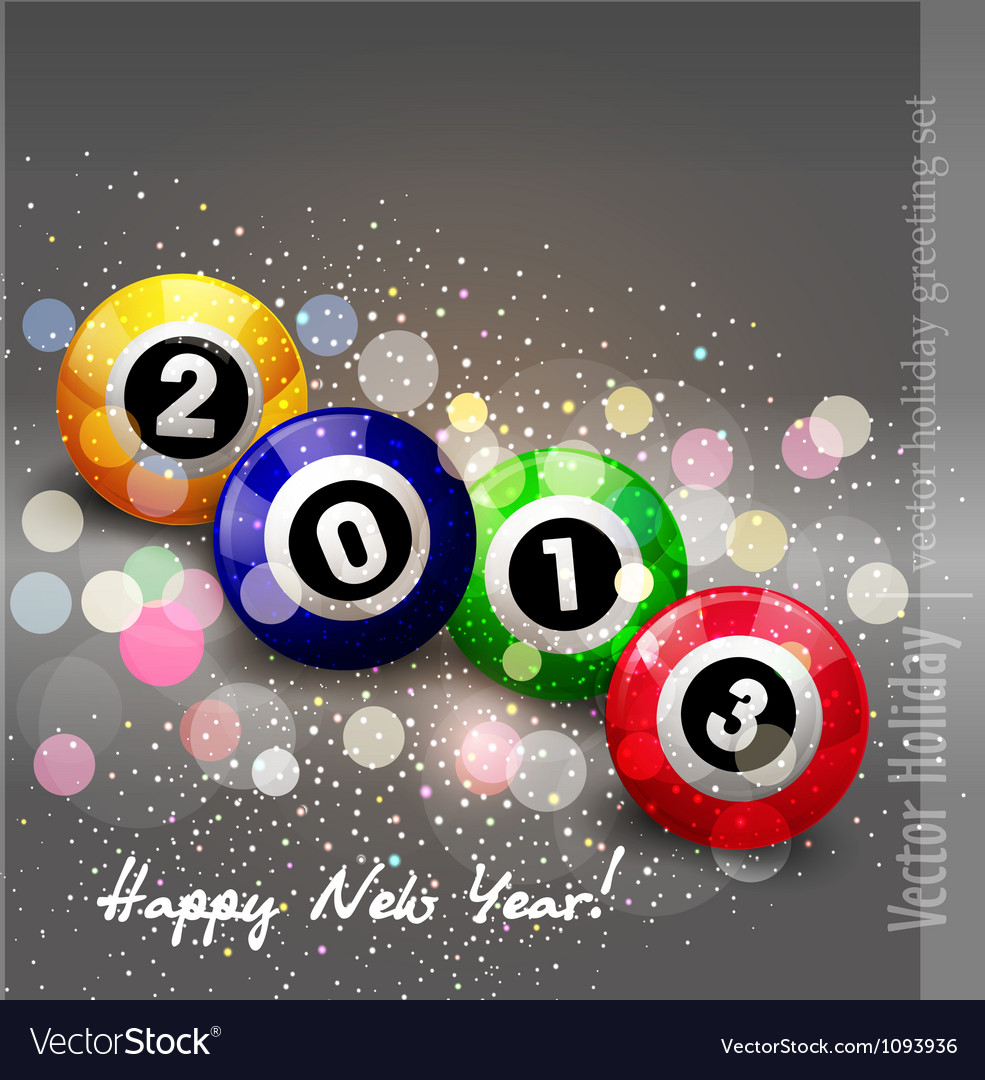 Abstract new year background vector | Price: 1 Credit (USD $1)