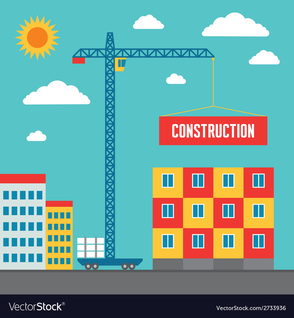 Construction of building - vector | Price: 1 Credit (USD $1)