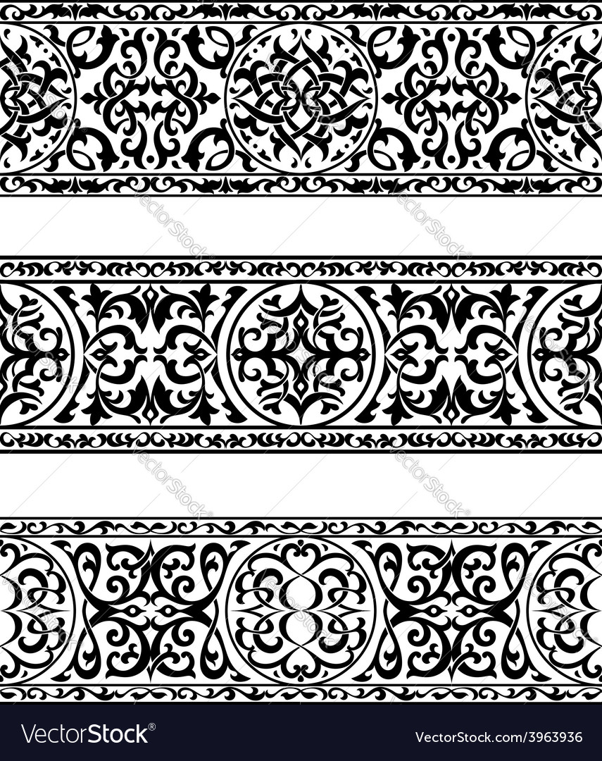 Decorative ornate vintage borders vector | Price: 1 Credit (USD $1)