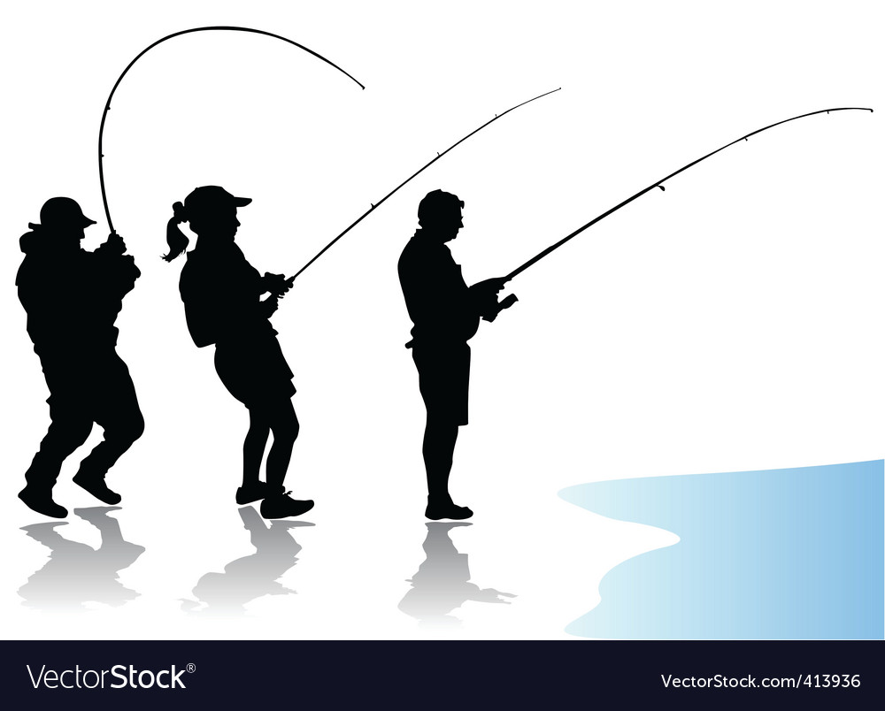 Fisherman vector | Price: 1 Credit (USD $1)