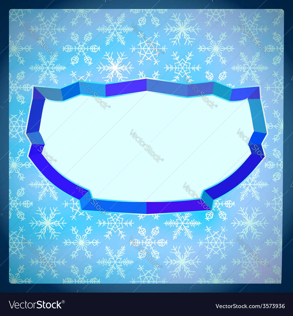 Frozen frame with snowflakes vector   Price: 1 Credit (USD $1)