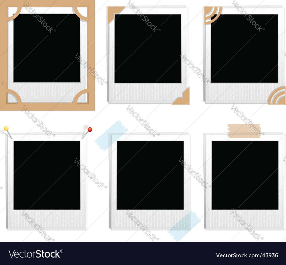 Polaroid frames vector | Price: 1 Credit (USD $1)