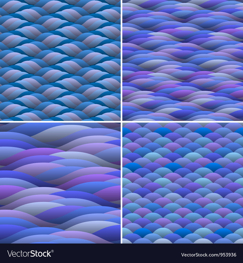 Seamless background of abstract waves vector | Price: 1 Credit (USD $1)