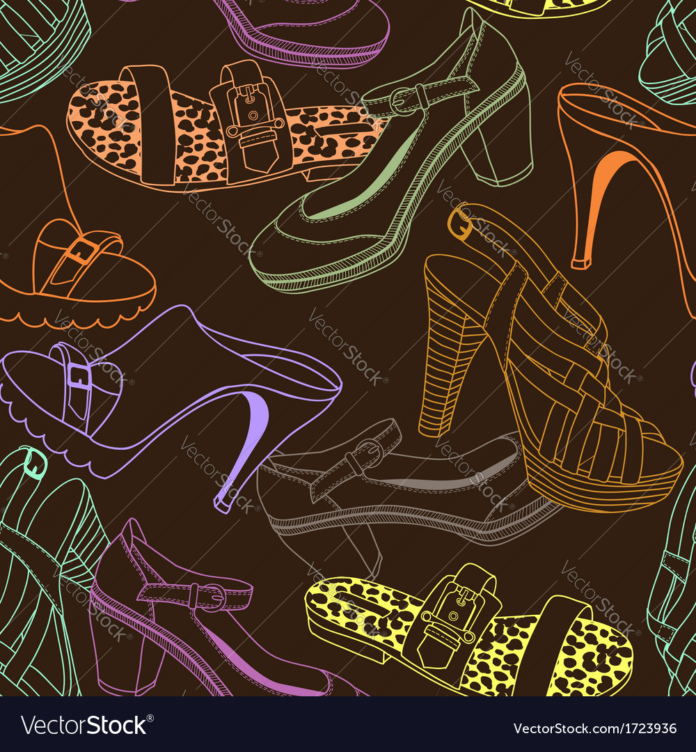 Shoes pattern brown vector | Price: 1 Credit (USD $1)
