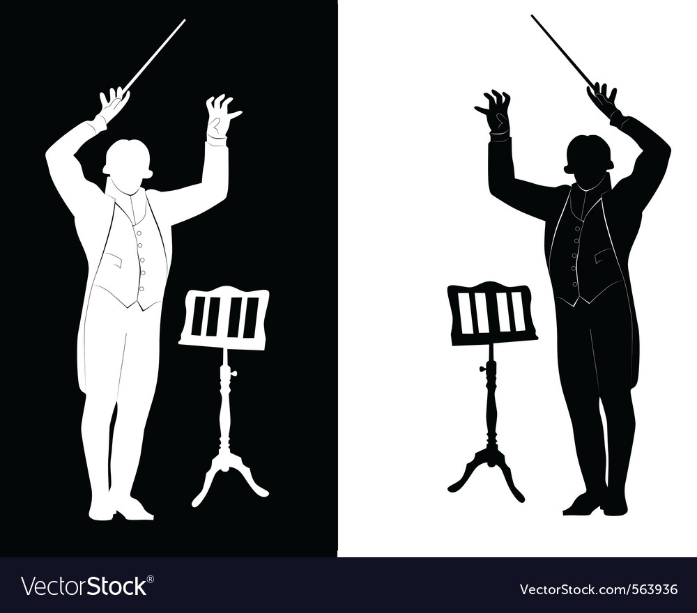 Silhouette of a conductor vector | Price: 1 Credit (USD $1)