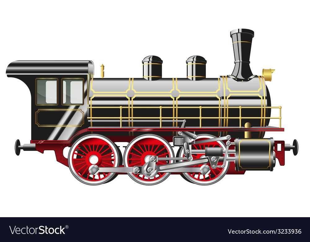 Steam locomotive vector | Price: 3 Credit (USD $3)