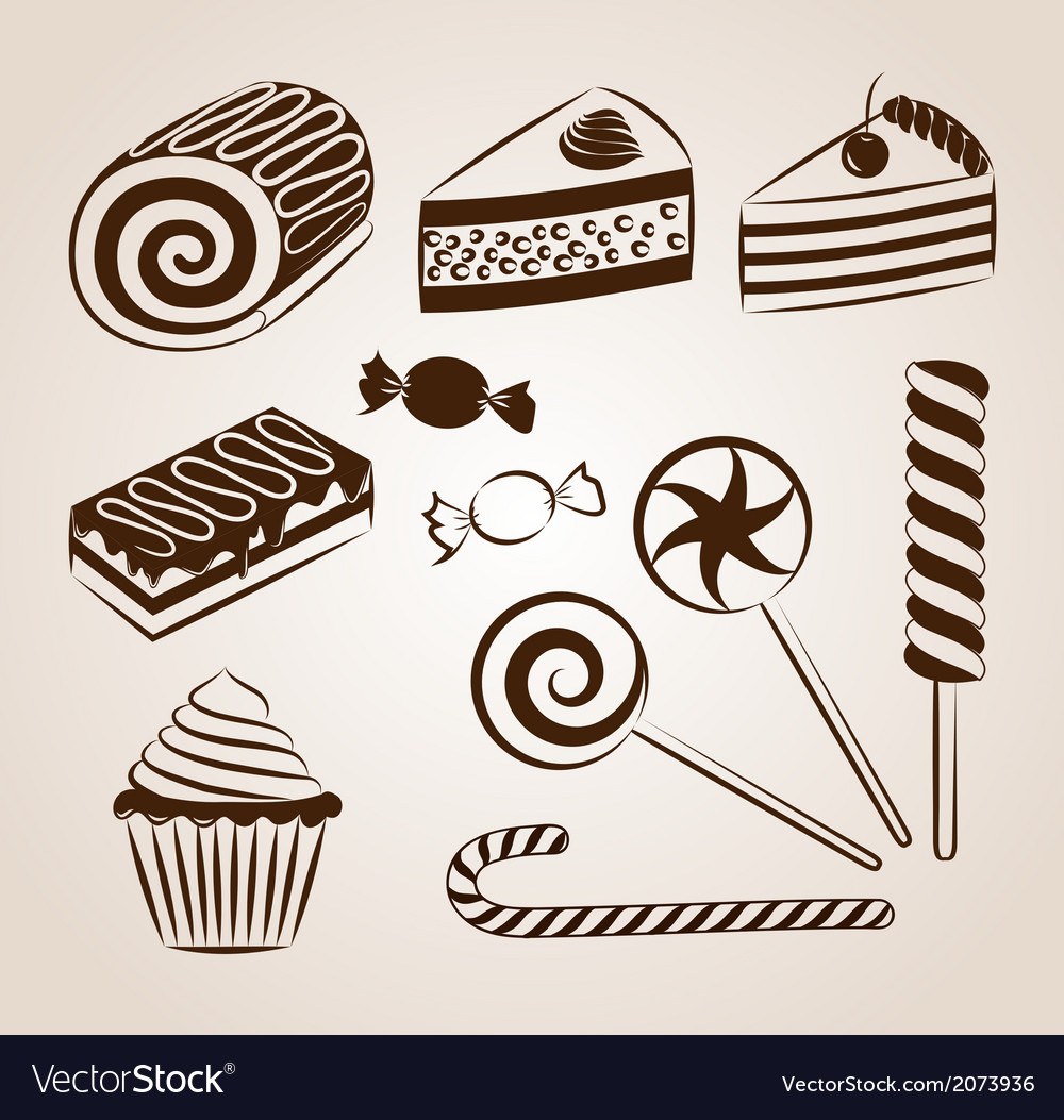 Sweet pastry collection vector | Price: 1 Credit (USD $1)
