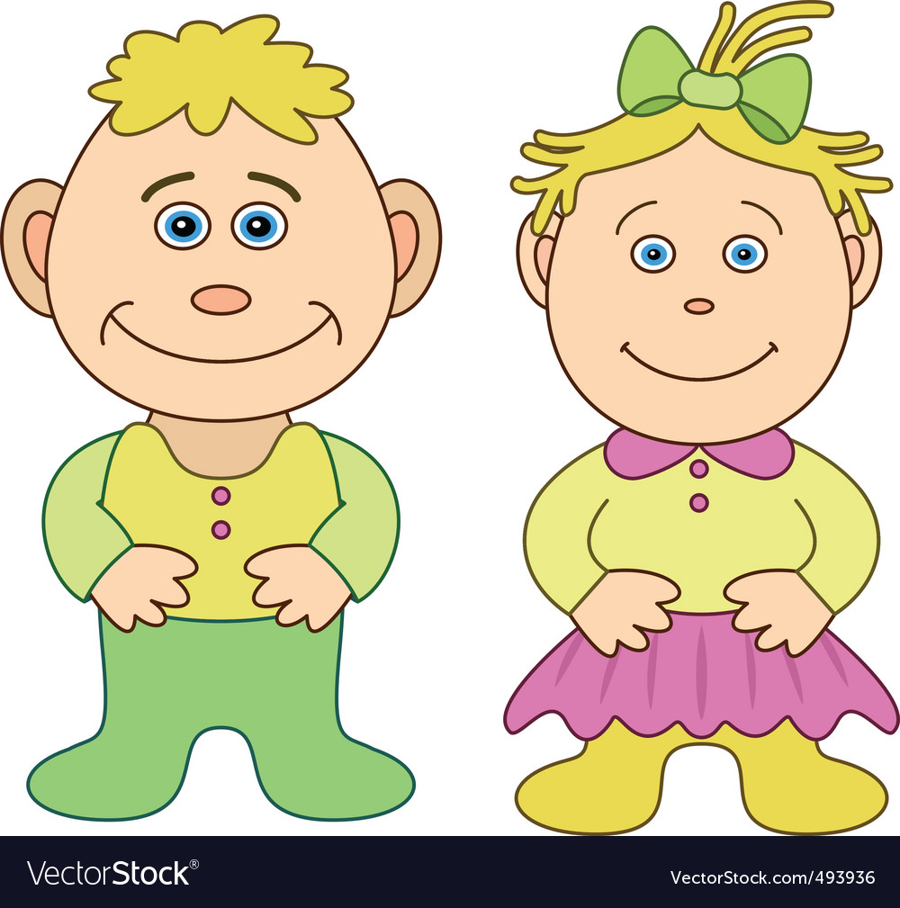 Toys boy and girl vector   Price: 1 Credit (USD $1)
