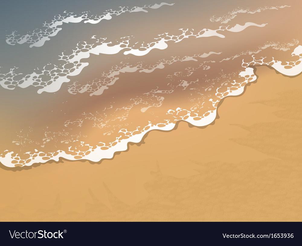 Wave on the beach vector
