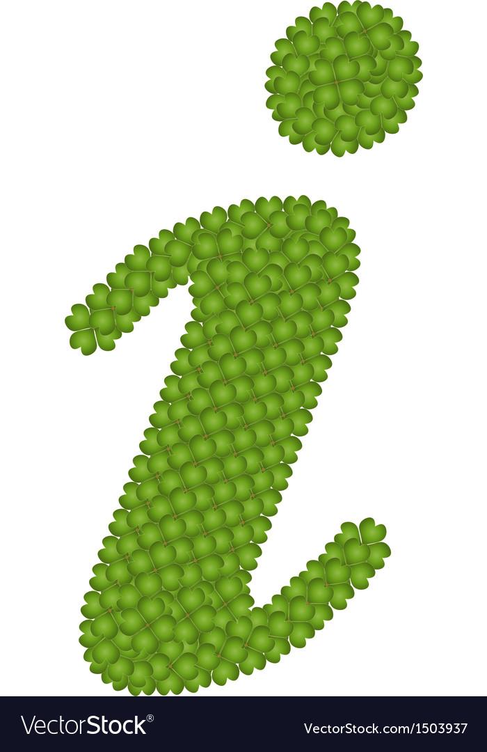 A four leaf clove of information symbol vector   Price: 1 Credit (USD $1)