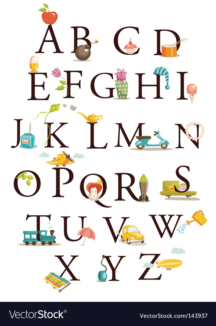 Alphabet chart vector | Price: 3 Credit (USD $3)