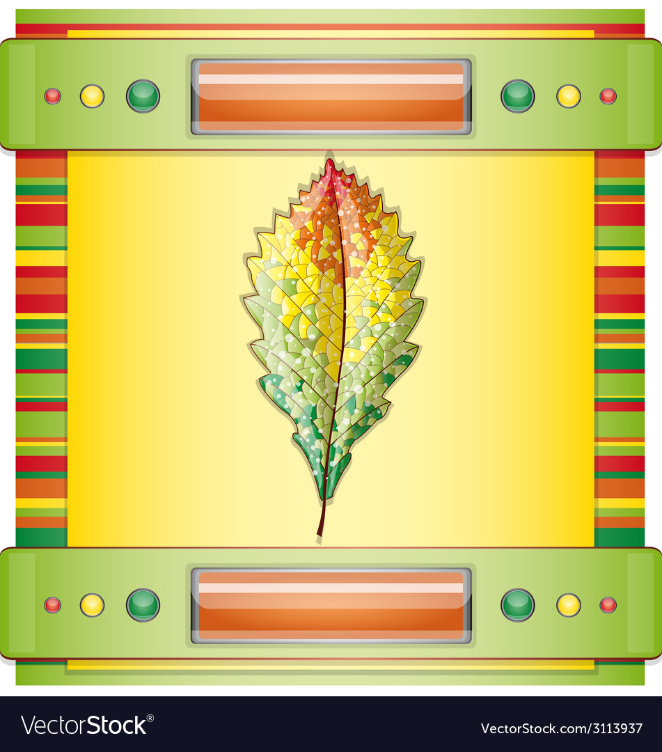 Autumn colorful leaf vector | Price: 1 Credit (USD $1)
