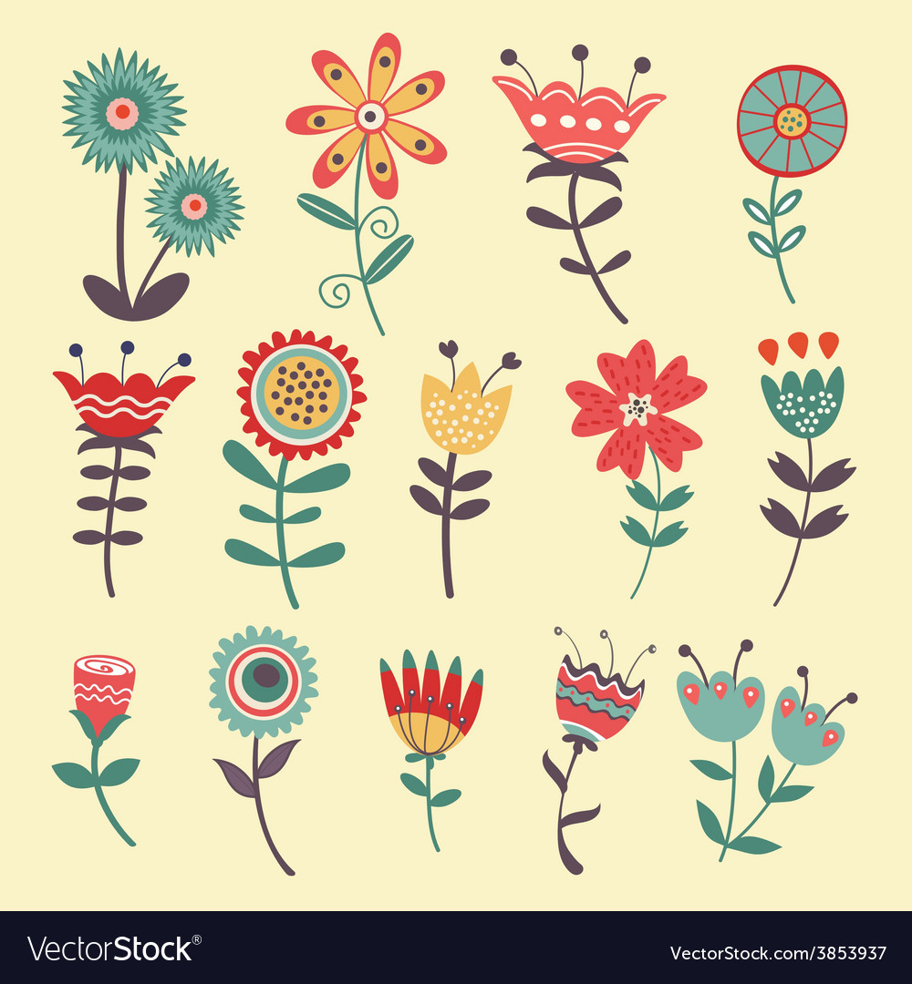Beautiful collection of flowers vector   Price: 1 Credit (USD $1)