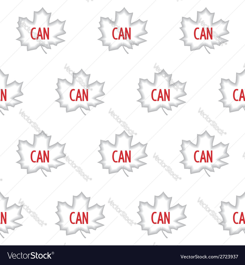 Canadian maple seamless pattern vector | Price: 1 Credit (USD $1)