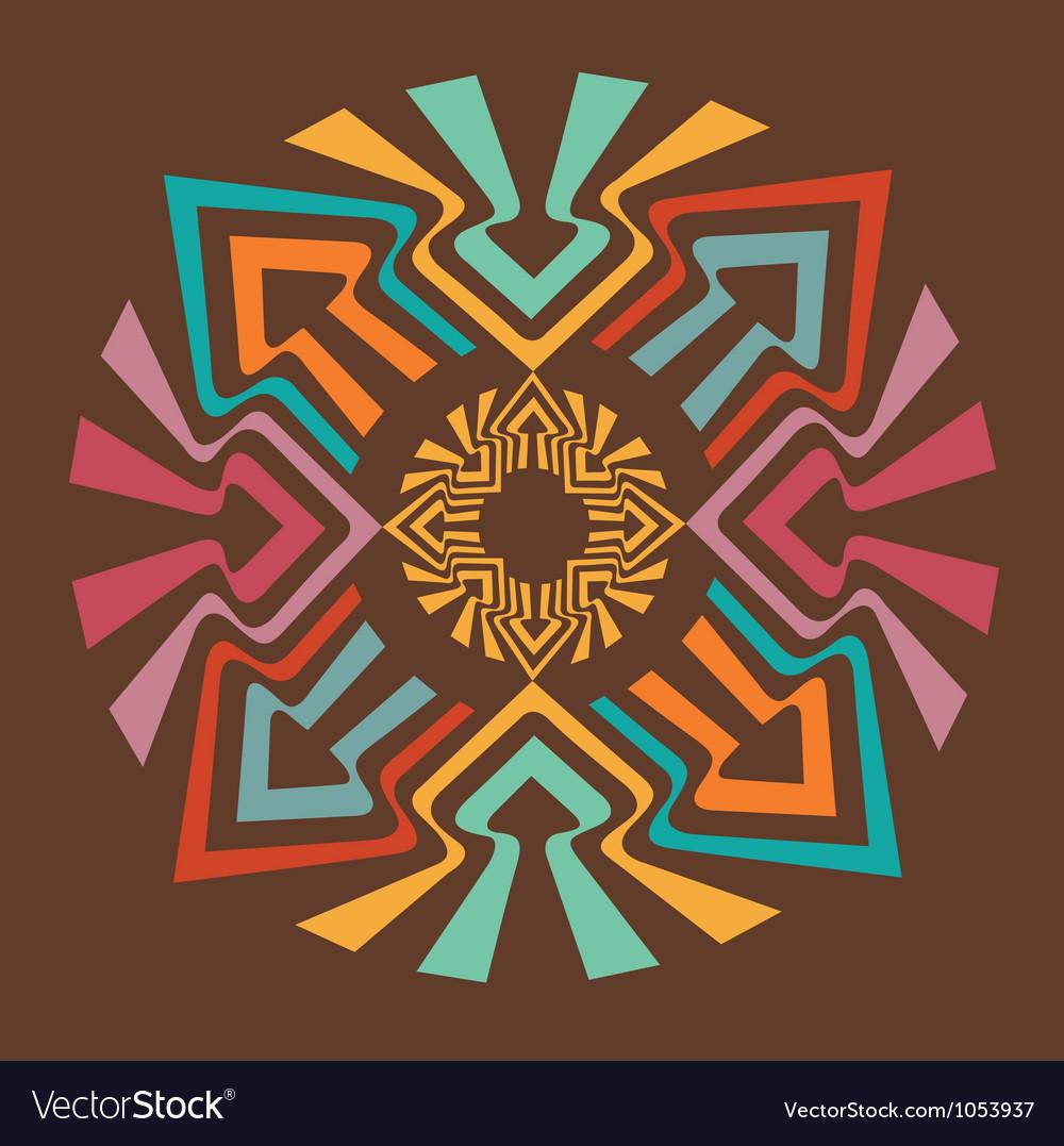 Color arrow mandala vector | Price: 1 Credit (USD $1)