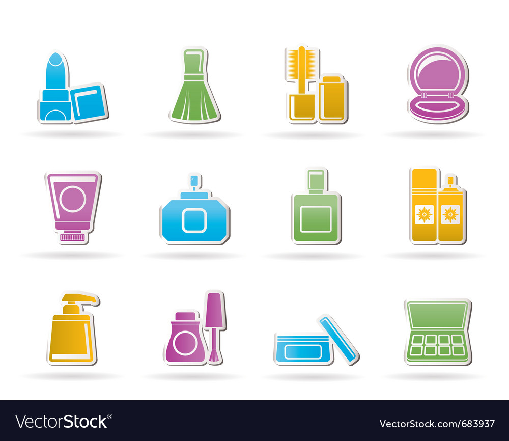 Cosmetic industry and beauty icons vector | Price: 1 Credit (USD $1)