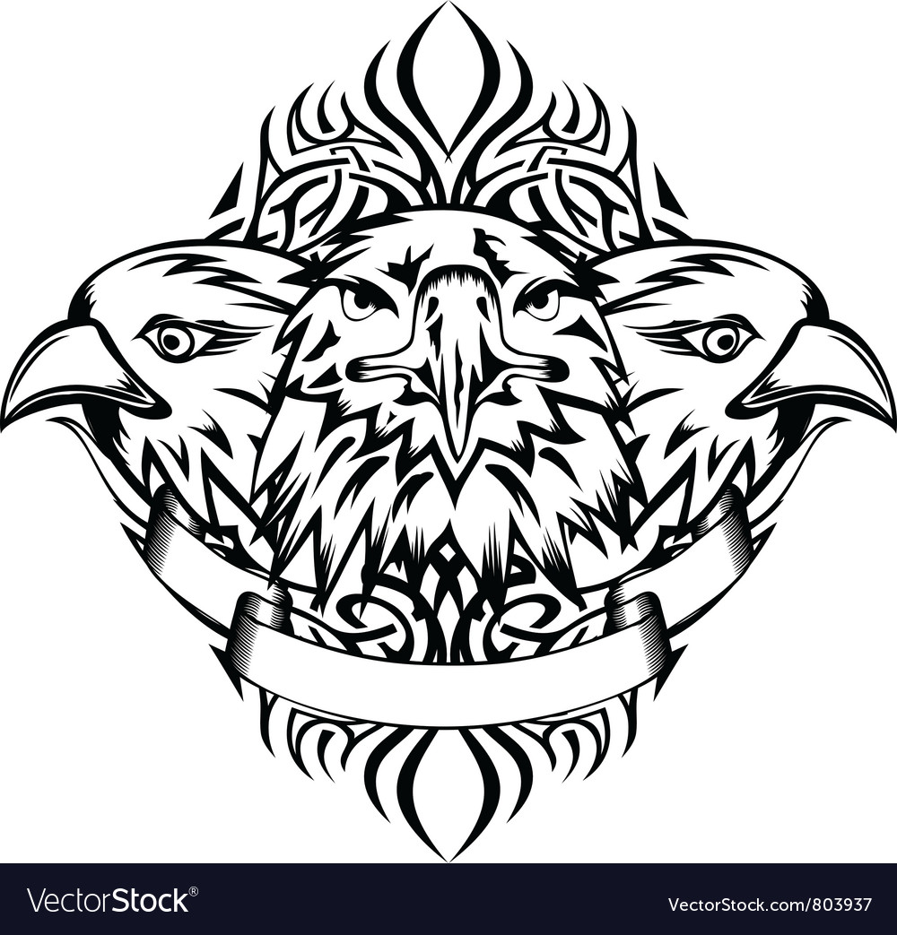 Eagle and pattern vector | Price: 1 Credit (USD $1)