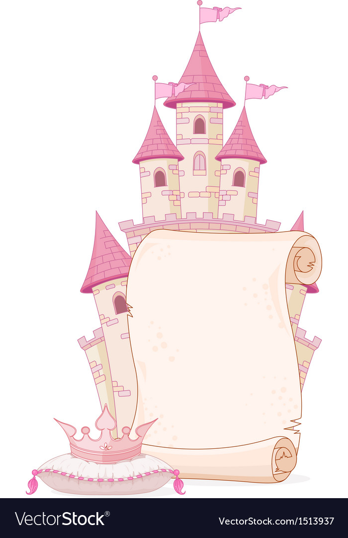 Fairy tale theme parchment vector | Price: 1 Credit (USD $1)