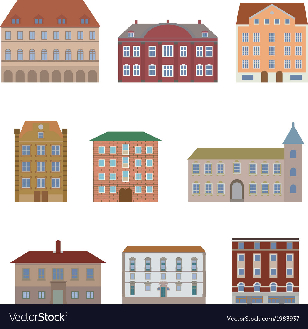 Houseset3 vector | Price: 1 Credit (USD $1)