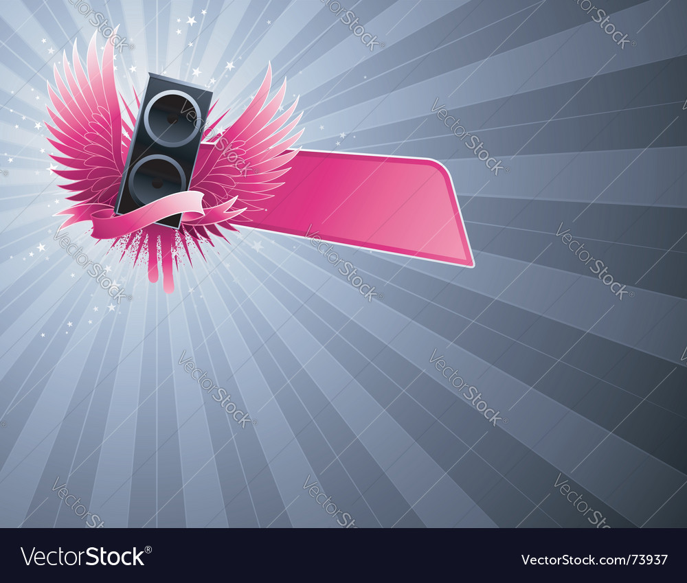 Loudspeaker party design vector | Price: 1 Credit (USD $1)