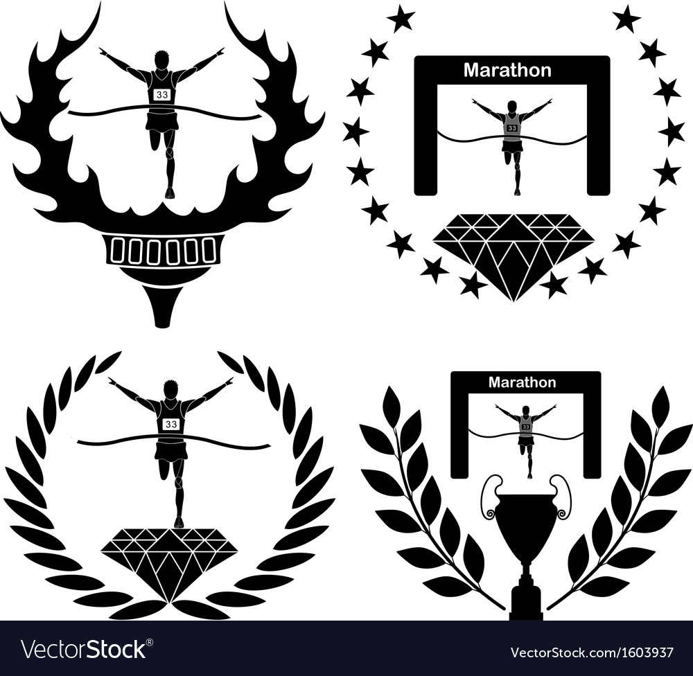 Marathon vector | Price: 1 Credit (USD $1)