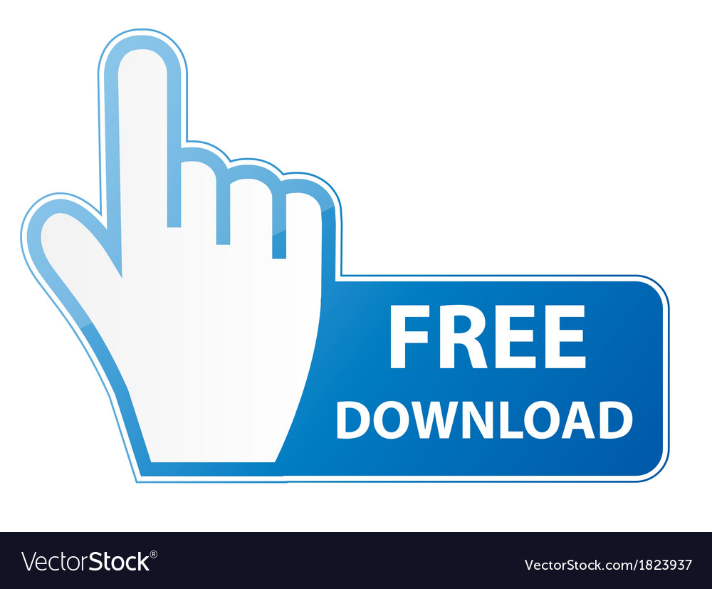 Mouse hand cursor on free download button vector | Price: 1 Credit (USD $1)