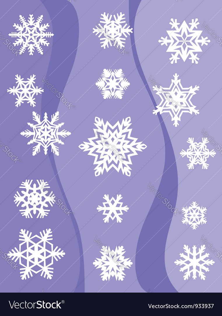 Set from original snowflakes vector | Price: 1 Credit (USD $1)
