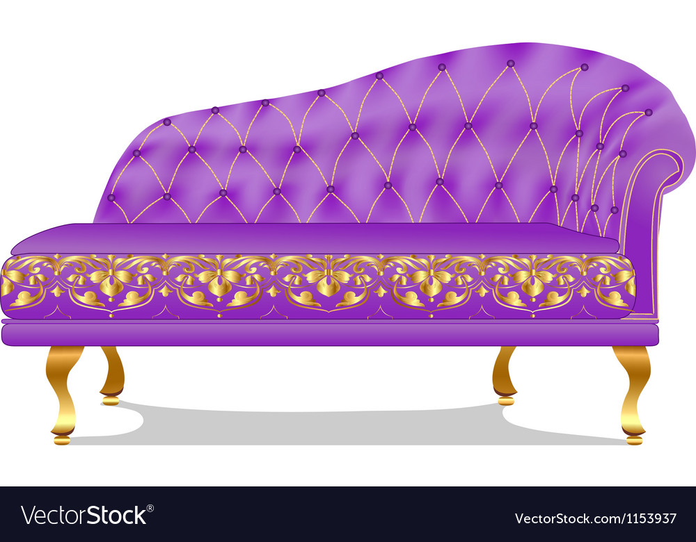 Sofa couch old insulated on white vector | Price: 1 Credit (USD $1)