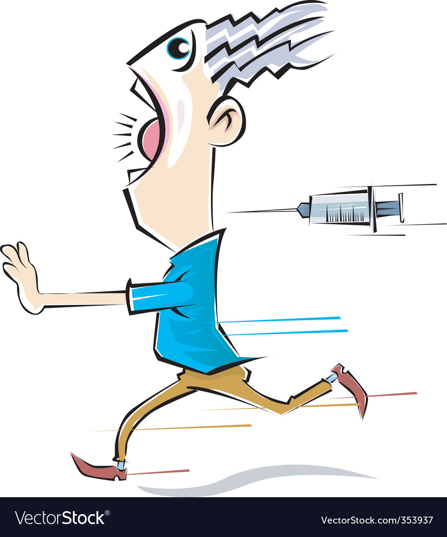 Syringe and man vector | Price: 1 Credit (USD $1)