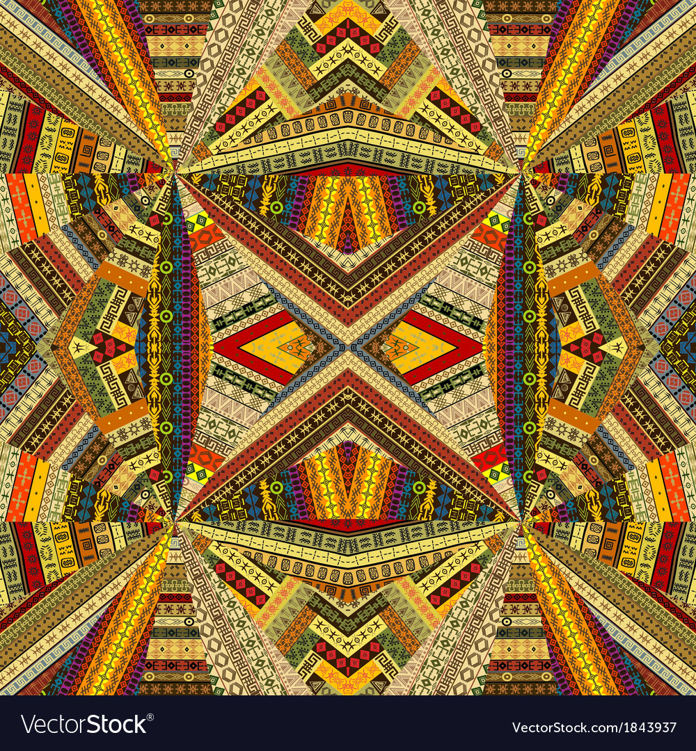Tribal background with optical effect vector | Price: 1 Credit (USD $1)