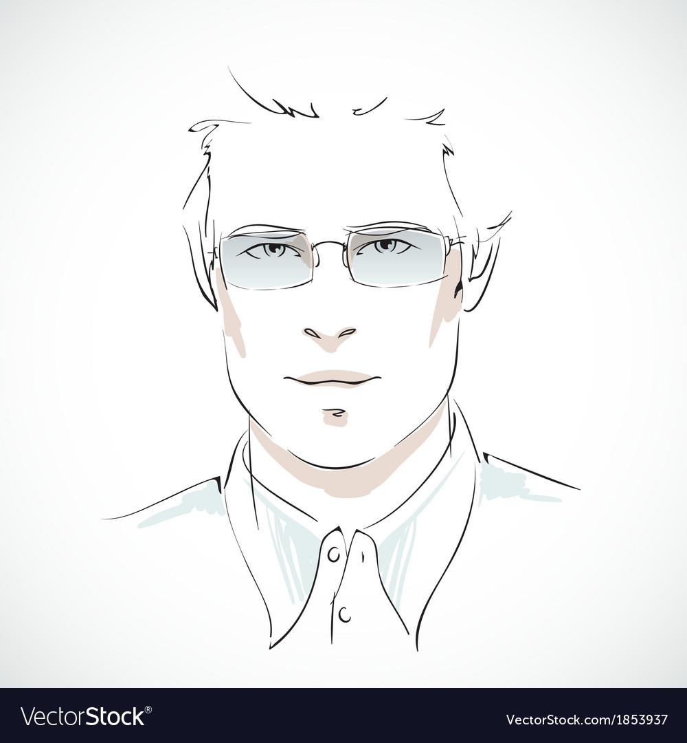 Young businessman portrait vector | Price: 1 Credit (USD $1)