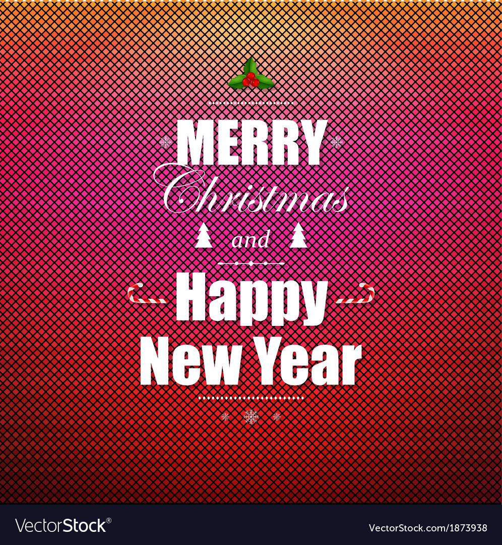 Bright christmas greeting poster vector | Price: 1 Credit (USD $1)