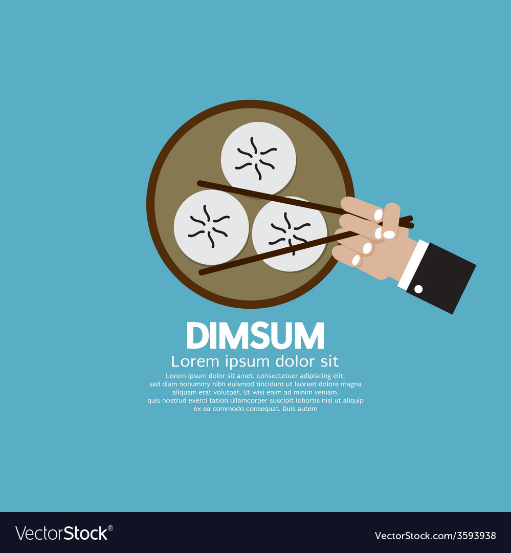 Dimsum with chopsticks vector | Price: 1 Credit (USD $1)