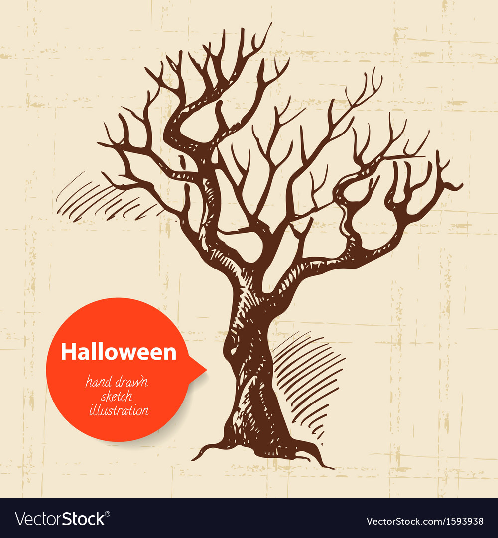 Hand drawn halloween background vector | Price: 1 Credit (USD $1)