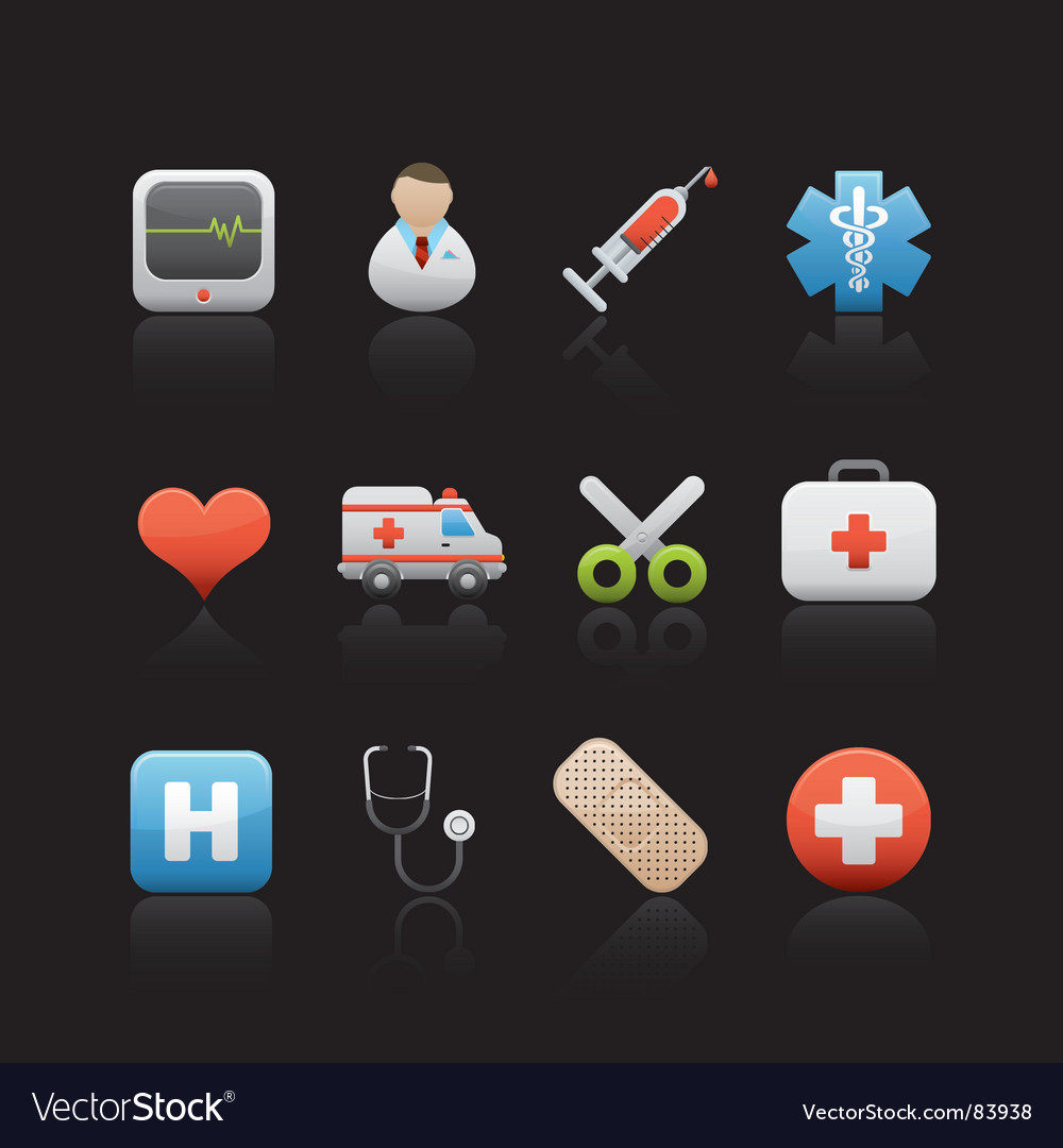 Hospital and medical center vector | Price: 1 Credit (USD $1)