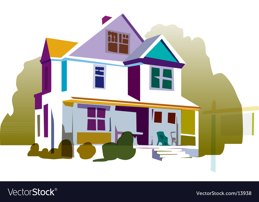 House with sign vector | Price: 1 Credit (USD $1)