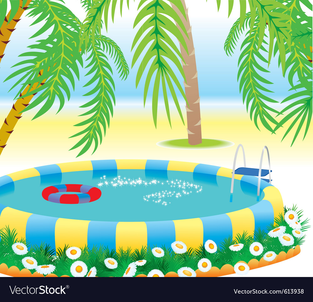 Outdoor pool vector | Price: 3 Credit (USD $3)