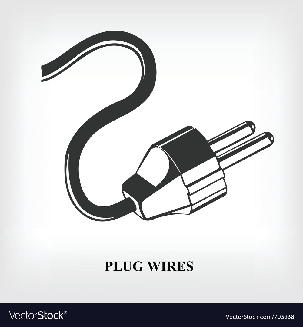 Power plug wire vector | Price: 1 Credit (USD $1)