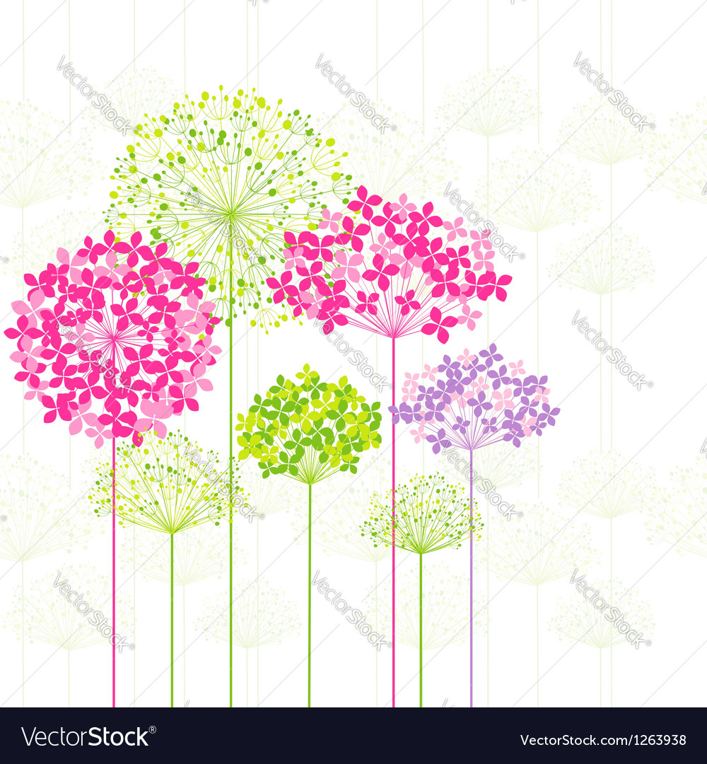Springtime colorful flower vector | Price:  Credit (USD $)