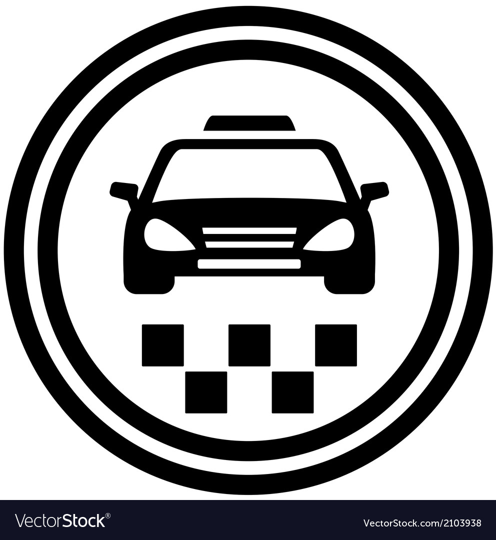 Taxi round icon vector | Price: 1 Credit (USD $1)